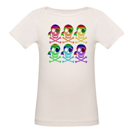 Rainbow Pirate Skulls Organic Baby T-Shirt