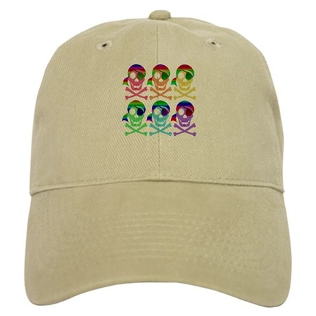 Rainbow Pirate Skulls Cap