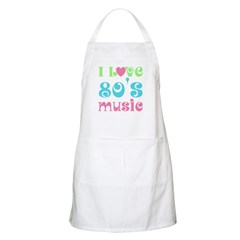 I Love 80's Music BBQ Apron