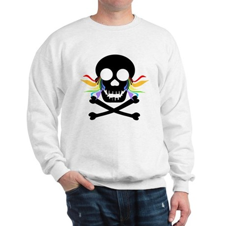 Black Skull Rainbow Tears Sweatshirt