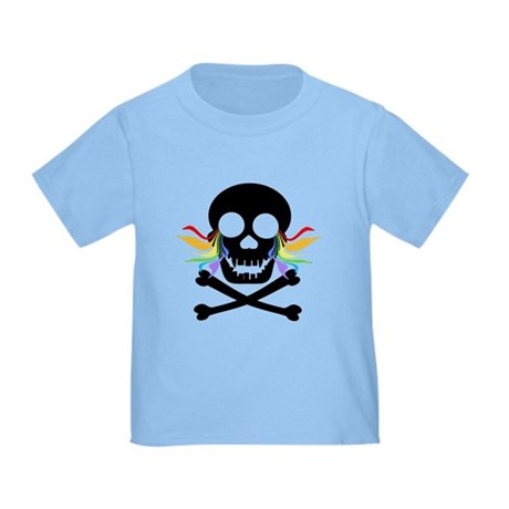 Black Skull Rainbow Tears Toddler T-Shirt