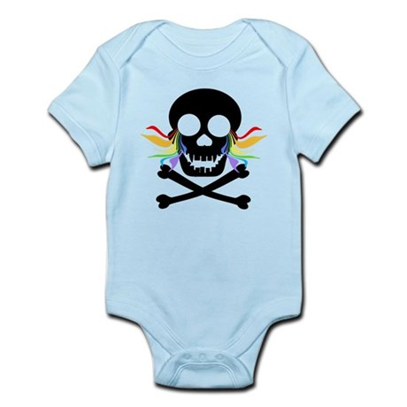 Black Skull Rainbow Tears Infant Bodysuit