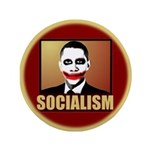 """Socialism Joker 3.5"""" Button (100 pack)"""