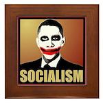 Socialism Joker Framed Tile