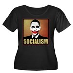 Socialism Joker Women's Plus Size Scoop Neck Dark