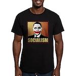 Socialism Joker Men's Fitted T-Shirt (dark)