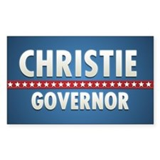 Christie Governor Rectangle Sticker 10 pk)