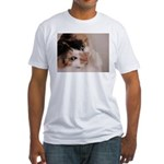 Calico Cat Fitted T-Shirt