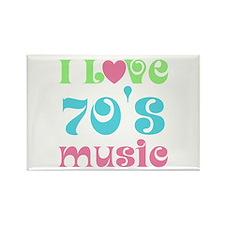 I Love 70's Music Rectangle Magnet
