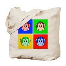 Andy Warhol like monkey design Tote Bag