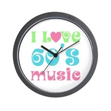 I Love Sixties Music Wall Clock