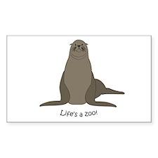 Sea/Sea lion Rectangle Decal