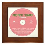 Protest Songs Framed Tile