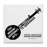 Pete Seeger Tile Coaster