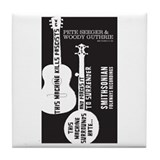 Cute Folkways records Tile Coaster