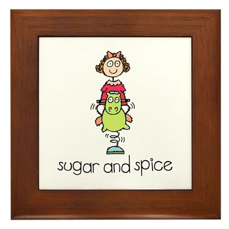 Sugar and Spice Framed Tile