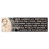 DeTocqueville on the American Republic Bumper Sticker