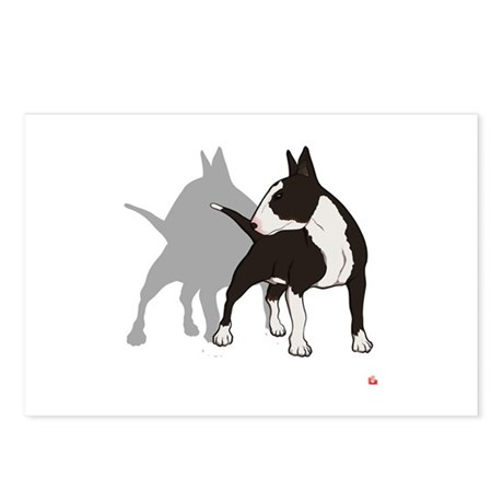 10 ENGLISH BULL-TERRIER Postcards (Package of 8)