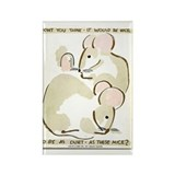 Quiet Mice WPA Vintage Art Rectangle Magnet