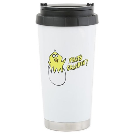What's Crackin' Ceramic Travel Mug