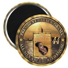 "14kt Gold 44th Presidential Buttons 2.25"" Magnet ("