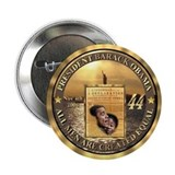 "14kt Gold 44th Presidential Buttons 2.25"" Button"