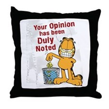 Duly Noted Throw Pillow