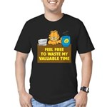Waste My Time Men's Fitted T-Shirt (dark)