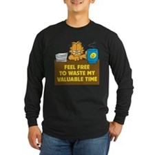 Waste My Time Long Sleeve Dark T-Shirt