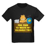 Waste My Time Kids Dark T-Shirt
