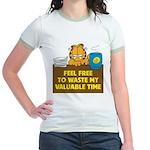 Waste My Time Jr. Ringer T-Shirt
