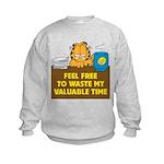 Waste My Time Kids Sweatshirt