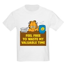 Waste My Time Kids Light T-Shirt