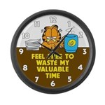 Waste My Time Large Wall Clock