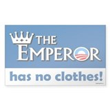 The Emperor has no Clothes Rectangle Decal