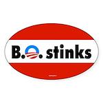 B.O. Stinks! Oval Sticker