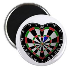 "Dart Love 2 2.25"" Magnet (10 pack)"