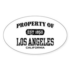 Property of Los Angeles Oval Decal