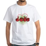 Love with Heart White T-Shirt