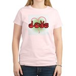Love with Heart Women's Pink T-Shirt