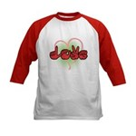 Love with Heart Kids Baseball Jersey