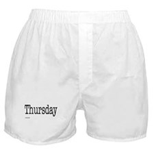 Thursday - On Boxer Shorts