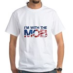 I'm with the MOB Men's White T-Shirt