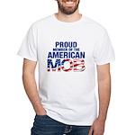 Proud Member of American MOB Men's White T-Shirt