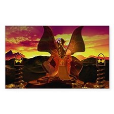 Fairy Sunrise Rectangle Decal