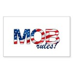 MOB Rules! Rectangle Sticker