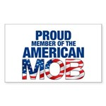 Proud Member American MOB Rectangle Sticker