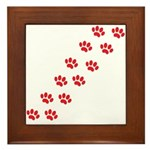 Paw Prints Framed Tile