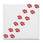 Paw Prints Tile Coaster