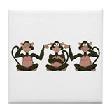 3 Monkeys! Tile Coaster